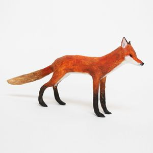Image of SMALL FOX - Paper Maché Sculpture
