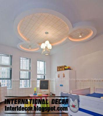 contemporary gypsum ceiling design for kids ceiling lighting