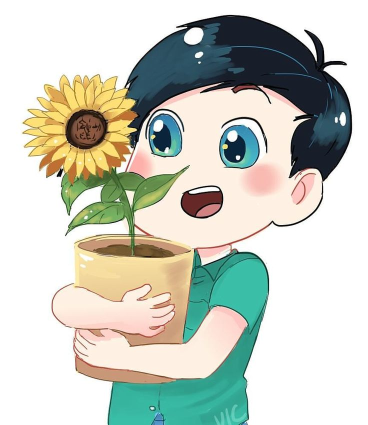 Last new sticker design~ tiny Phil holding a big sunflower #phanart #donotrepost