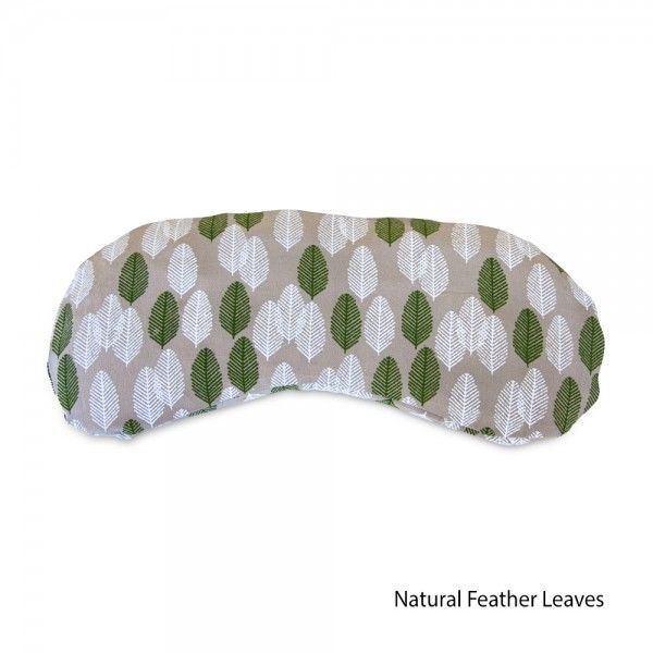 Printed Silk Yoga Eye Pillow - Eye Bag in Natural Feather Leaves