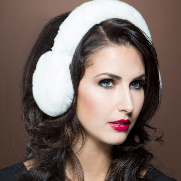 White Faux Fur Earmuffs New without tags! Better fit for a smaller head!!☃FIRM UNLESS BUNDLED☃ Accessories Hair Accessories