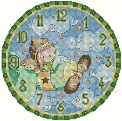 Aviator Dreams Clock by Rachelle Miller