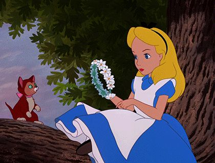 When Alice made this flower crown like NBD. | The 25 Most Satisfying Beauty Moments In Disney Films