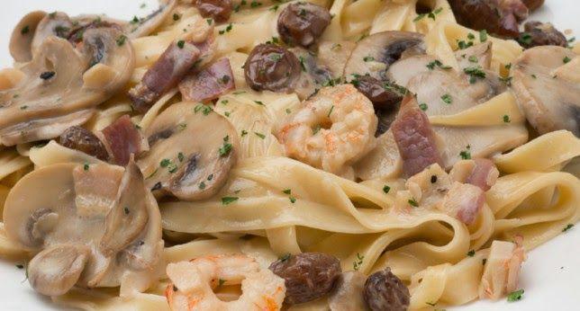 Varomeando: Espaguetis con champiñones y bacon