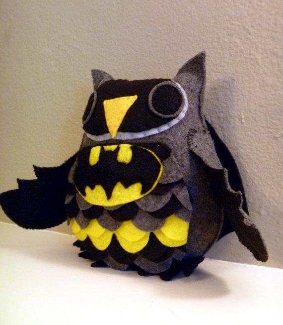Batman Owl Plush by CharacterCove on Etsy, $25.00