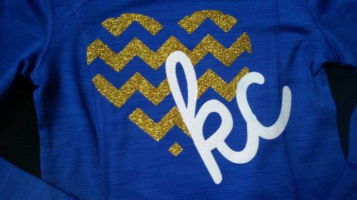 KC Royals Gold and White Glitter Chevron Heart Long Sleeve Sports Athletic Shirt by 3ChicksEclectic on Etsy https://www.etsy.com/listing/255126889/kc-royals-gold-and-white-glitter-chevron