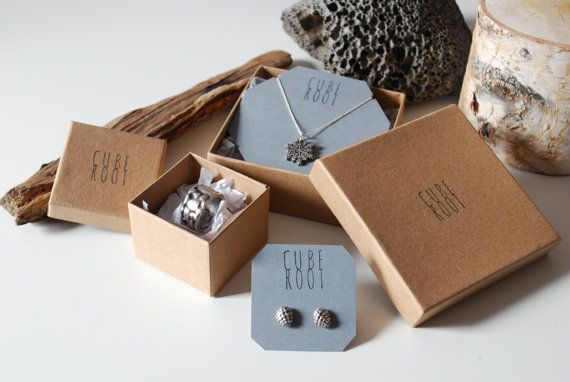 this shows how will have jewelry on a tag, then in a box. But first, the tag will be in an envelope.