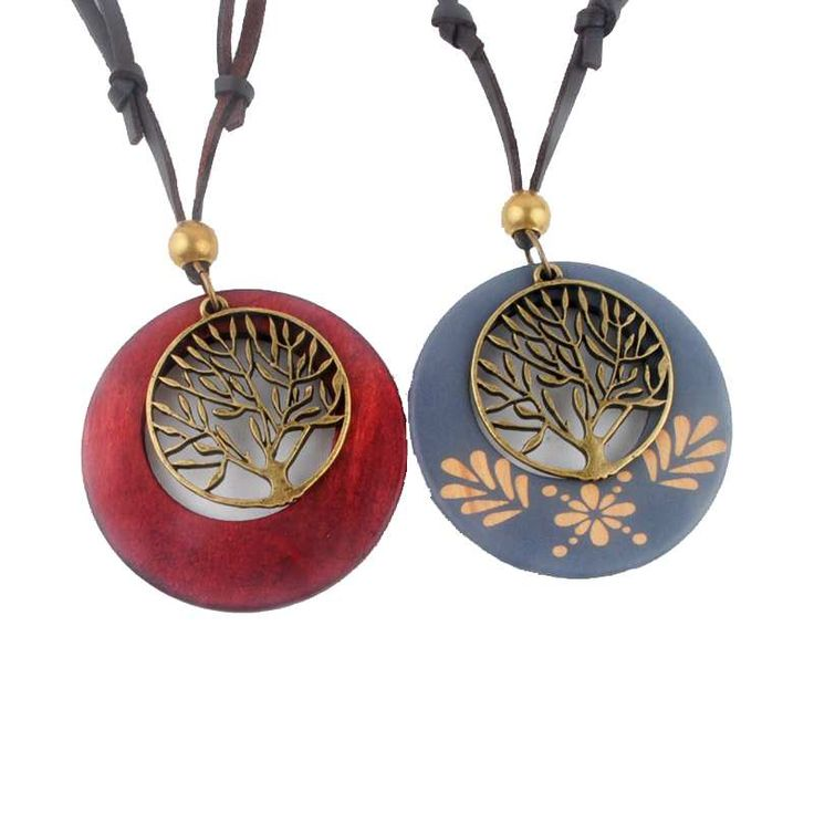 New Maxi necklace Vintage necklaces pendants Women Jewelry Fashion choker necklace Alloy Life Tree Wooden Pendant Necklace Wood