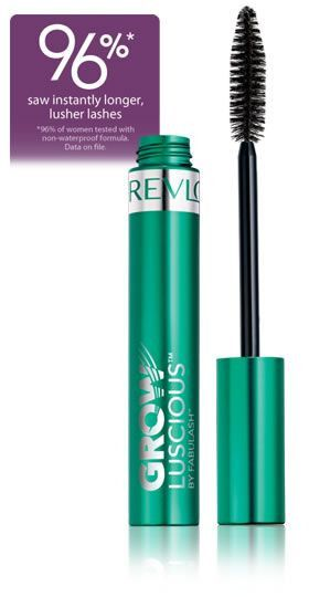 REVLON GROW LUSCIOUS MASCARA 96% SAW INSTANTLY LONGER, MORE LUSH LASHES