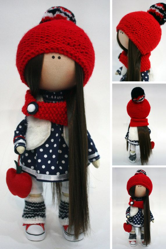 Textile doll Tilda doll Handmade doll Art by AnnKirillartPlace