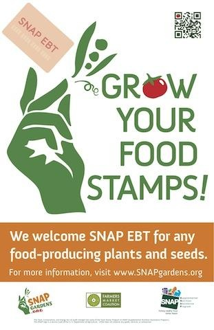 Supplemental Nutrition Assistance Program (SNAP), or food stamps, can be used to buy seeds and plants, not just food.