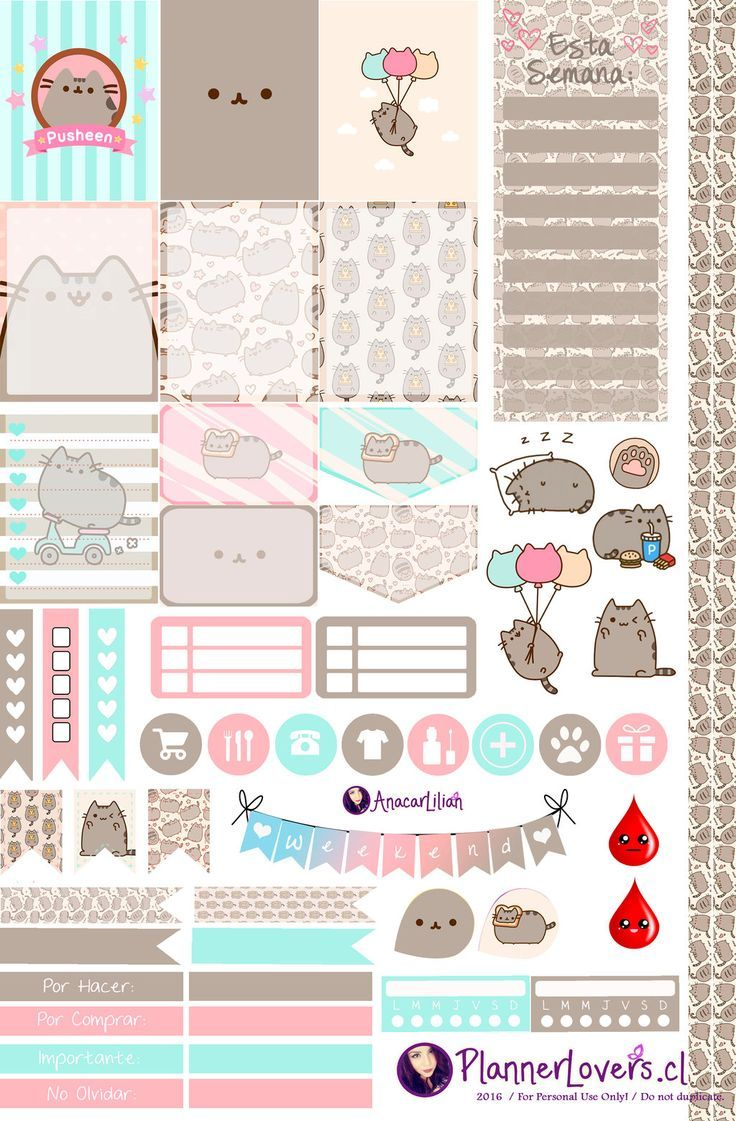 Image result for free printable pusheen favor box