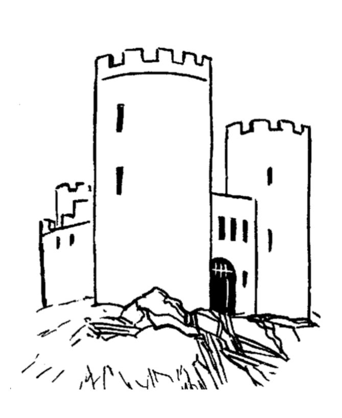 крепость черно белый рисунок персональные занятия