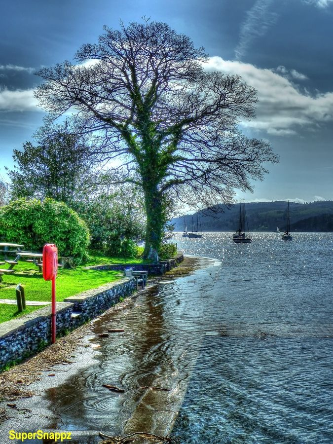 Waters Edge, Ambleside, Lake Windermere, Lake District. England