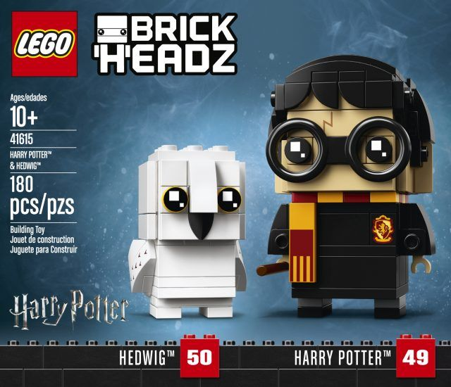 Adorable Lego Harry Potter Brickheadz Characters Are Finally Unveiled News The Brothers Brick Harry Potter Hedwig Harry Potter Lego Sets Lego Harry Potter