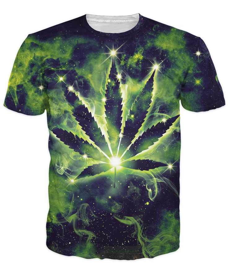 Cheap top tees, Buy Quality summer t shirt women directly from China t shirt women Suppliers: Weed Constellation T-Shirt pot leaf constellation galaxy space summer style t shirt women men  tops tees plus size