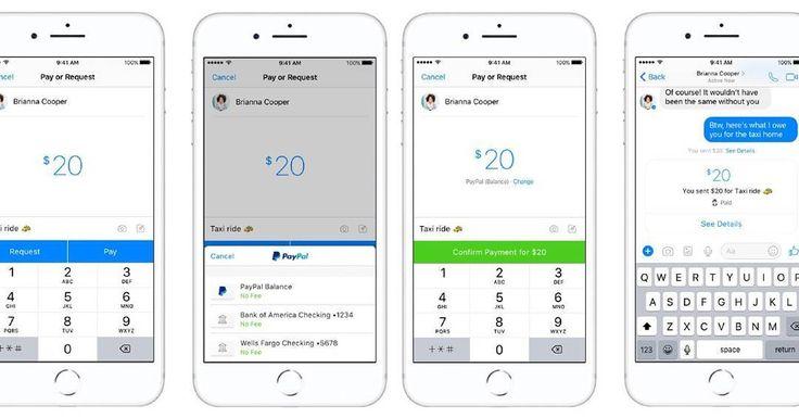 #PayPal реализовал переводы между людьми через Facebook Messenger. В мобильном интерфейсе это выглядит так #fintech #finnext