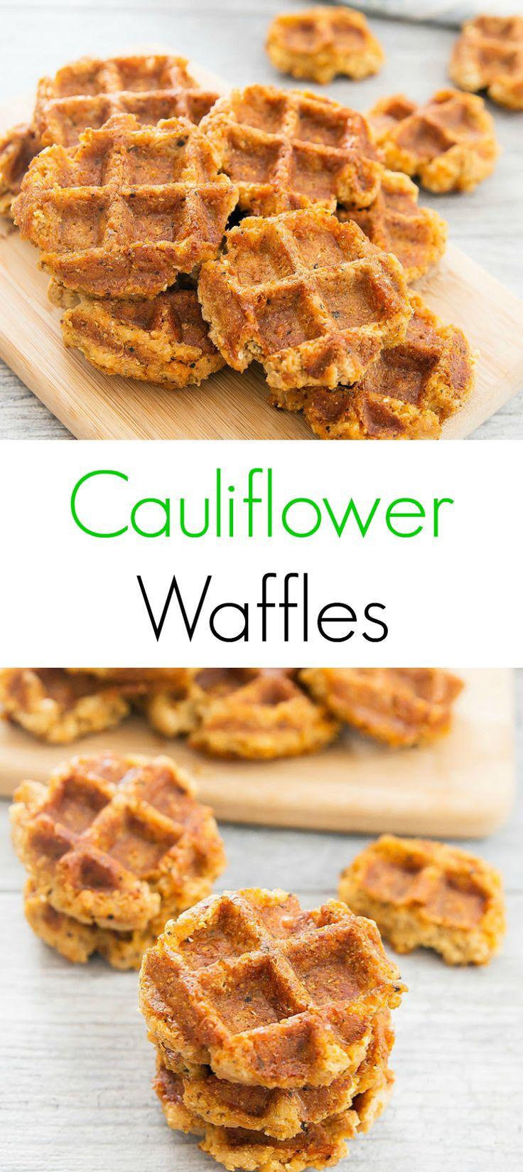 Cauliflower Waffles. Crisp, easy and delicious!