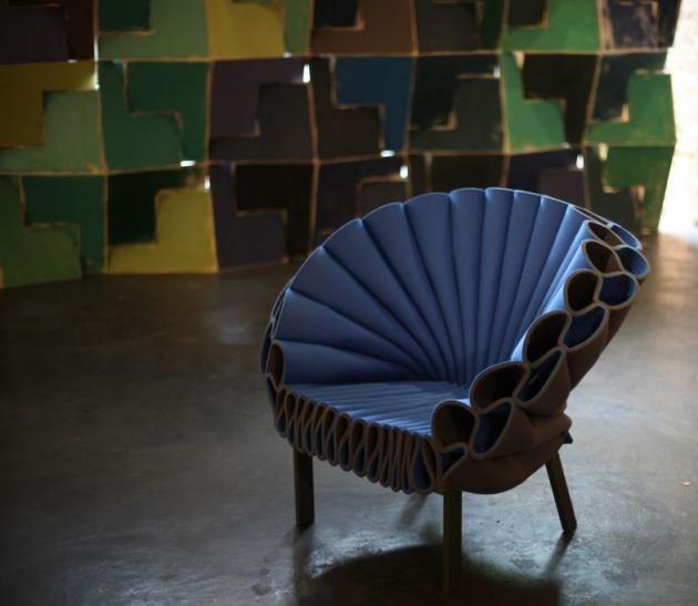 CAPPELLINI Peacock Chair by Dror Benshetrit