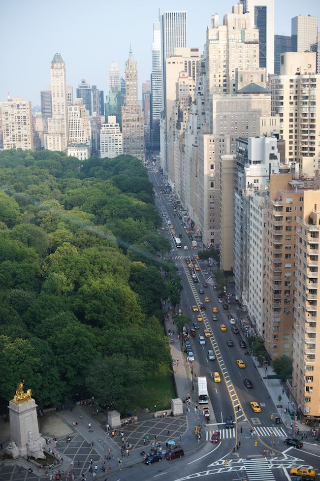 Southern tip of Central Park looking East from Columbus Circle.