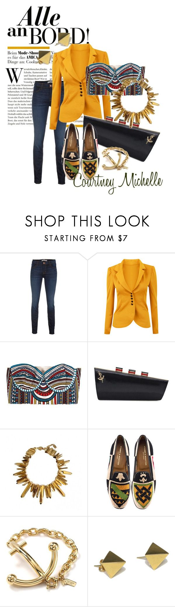 """Alle an Bord!"" by courtneymichele ❤ liked on Polyvore featuring J Brand, Mara Hoffman, Kate Spade, Yves Saint Laurent, Stubbs & Wootton and Tom Binns"