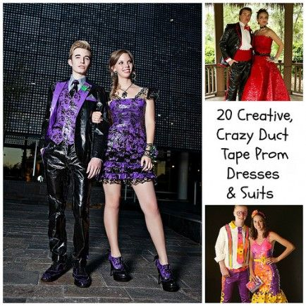 Prom dress duct tape keychains