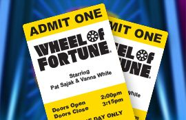 Wheel of Fortune package - includes autographed picture and passes to the show!