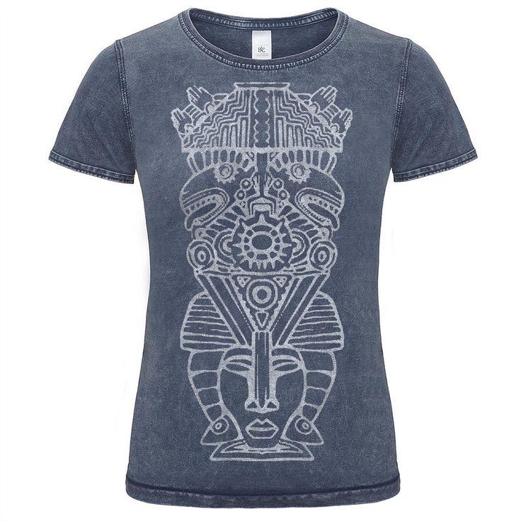 Dámske indiánske denim tričko s potlačou