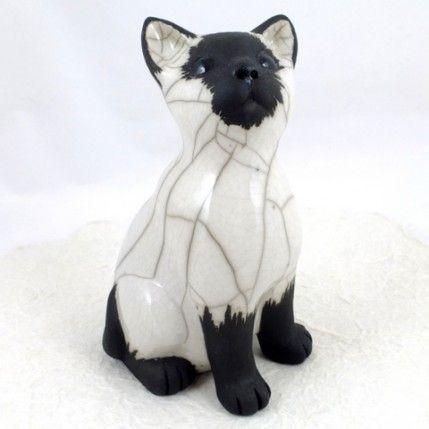 Raku Kitten by Chloe Harford