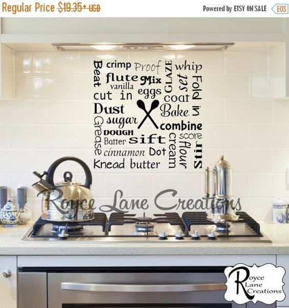 Bakers Kitchen Word Art Wall Decal #EtsyForAll #baking