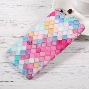 Mermaid - iPhone 6/6S színes tok, sellő pikkelyekkel