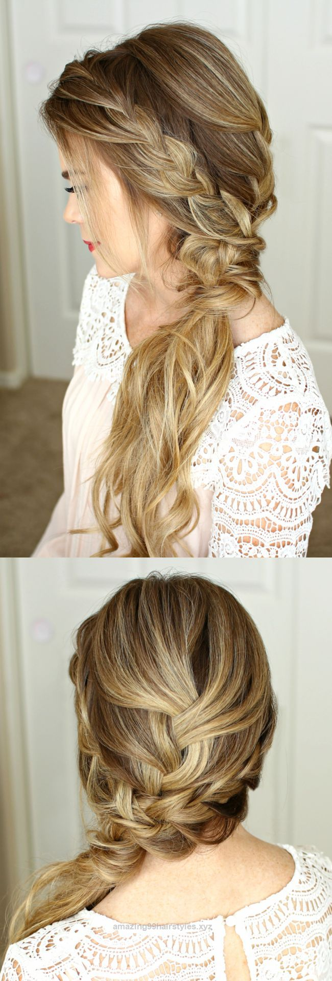 Wonderful Prom is coming up and I've had so many requests for hair tutorials! I always post updos so I wanted to change things up and post something new. Last week I shared a simple half up style  ..