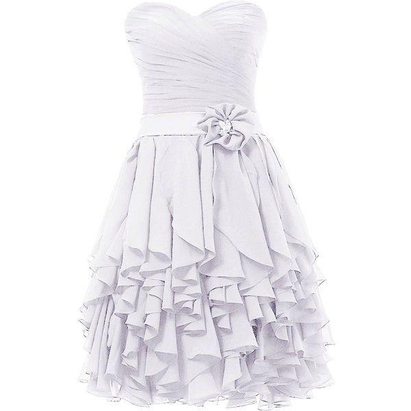 Dresstells Sweetheart Prom Chiffon Bridesmaid Dress Homecoming Dresses ($44) ❤ liked on Polyvore