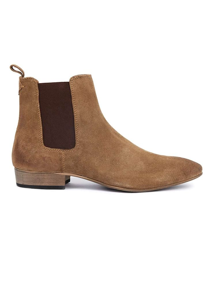 Tan Suede Chelsea Boots - Men's Boots - Shoes and Accessories - TOPMAN