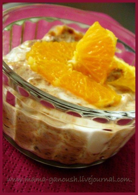 Десерт из йогурта с черносливом