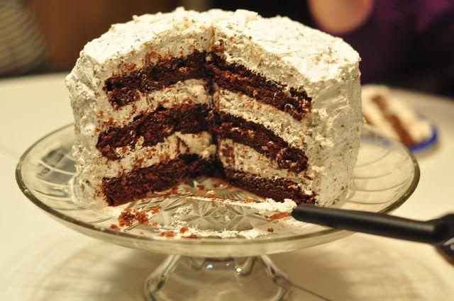 Hershey bar cake ... recipe from The Honey Pot ...