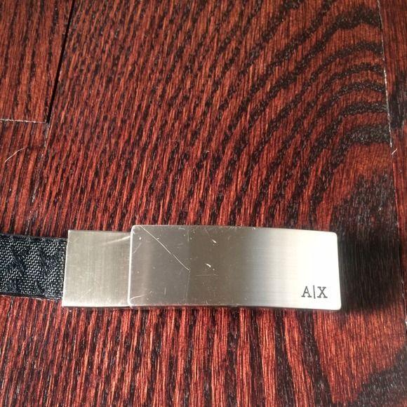 Armani exchange logo skinny belt Armani exchange logo skinny belt, size medium. A/X Armani Exchange Accessories Belts