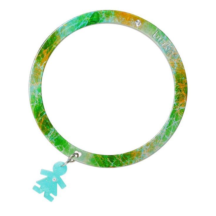 Bracciale linea #passion by #birikini: arcobaleno verde azzurro e giallo