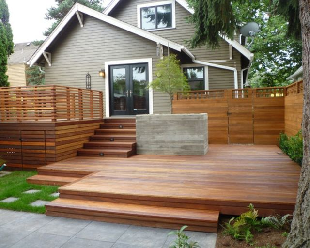 74 best Deck images on Pinterest Outdoor spaces, Wood and Backyard - prix d une terrasse en bois