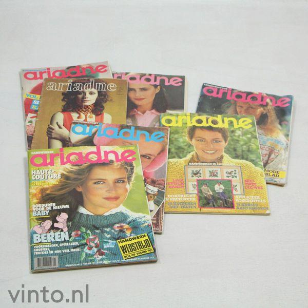 Zeven Ariadnes handwerken uit de jaren '70/'80 http://www.vinto.nl/winkel/alle-producten/vier-oude-ariadnes-handwerken/#prettyPhoto