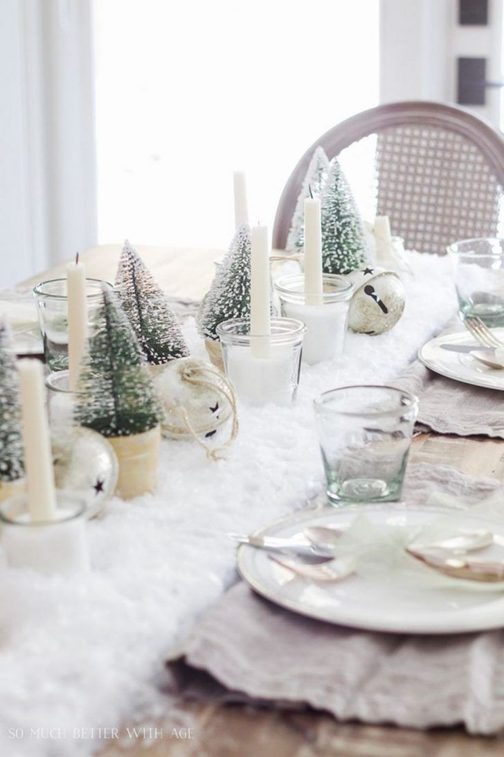 Top 25 Wonderful Christmas Dining Table Decoration Ideas Dexorate Christmas Dining Table Christmas Dining Table Decor Christmas Dining