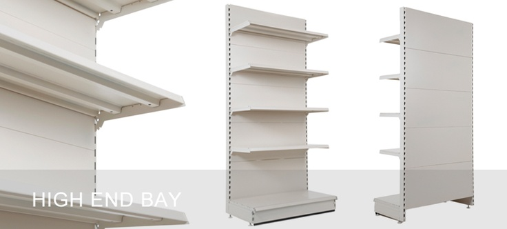 High End Bays - for neatly completing a run of wall shelving