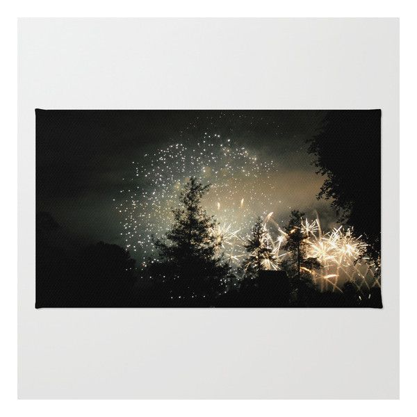 Forest Fireworks. © S. Montague. Rug ($28) ❤ liked on Polyvore featuring home, rugs, backgrounds, other, non skid rugs, chevron area rug, woven area rugs, woven rug and zigzag rug