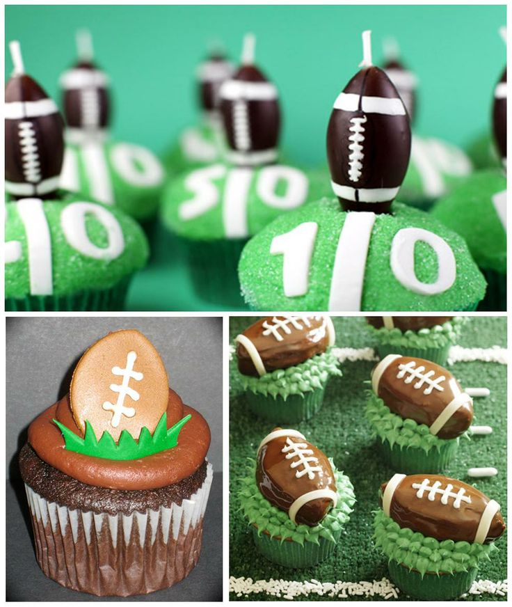 Cute for our Football partyTheme Cupcakes, Football Cupcakes Cake, Theme Parties, Sweets Desserts, Cake Pop, Football Parties, Cupcake Cakes, Desserts Tables, Parties Cupcakes