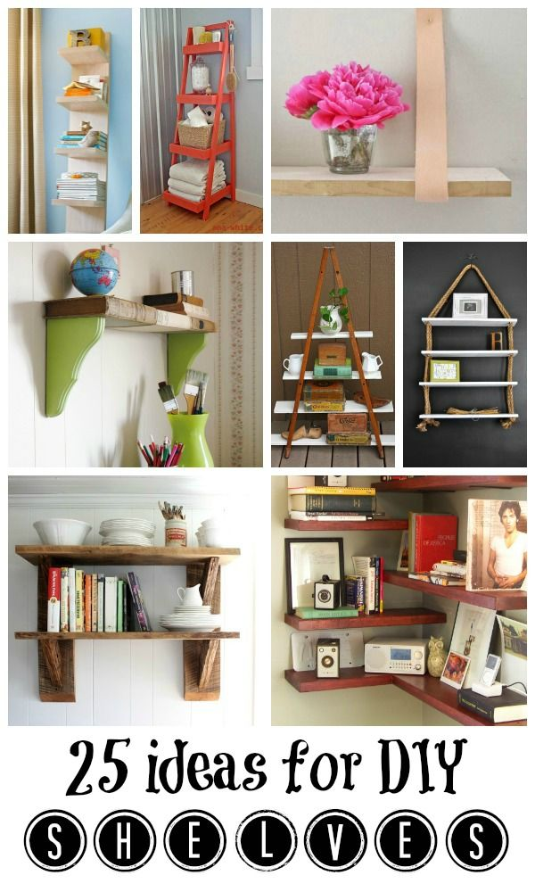 25 Great DIY Shelving Ideas | Remodelaholic.com #diy #shelves #organize #storage #buildit @Remodelaholic .com .com .com