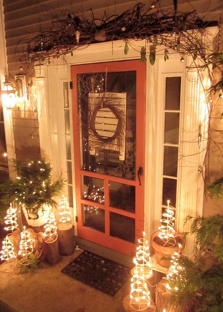 great front door!: Holiday, Rustic Christmas, Christmas Decor, Porches, Christmas Ideas, Christmas Porch