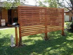 timber slat privacy screen