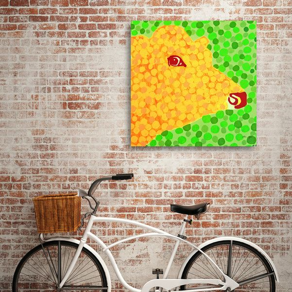 Discover «The Orange Cow», Exclusive Edition Canvas Print by Alan Hogan - From $59 - Curioos #theorangecow #hoganart #cows #art #prints #wallart #interiors #home