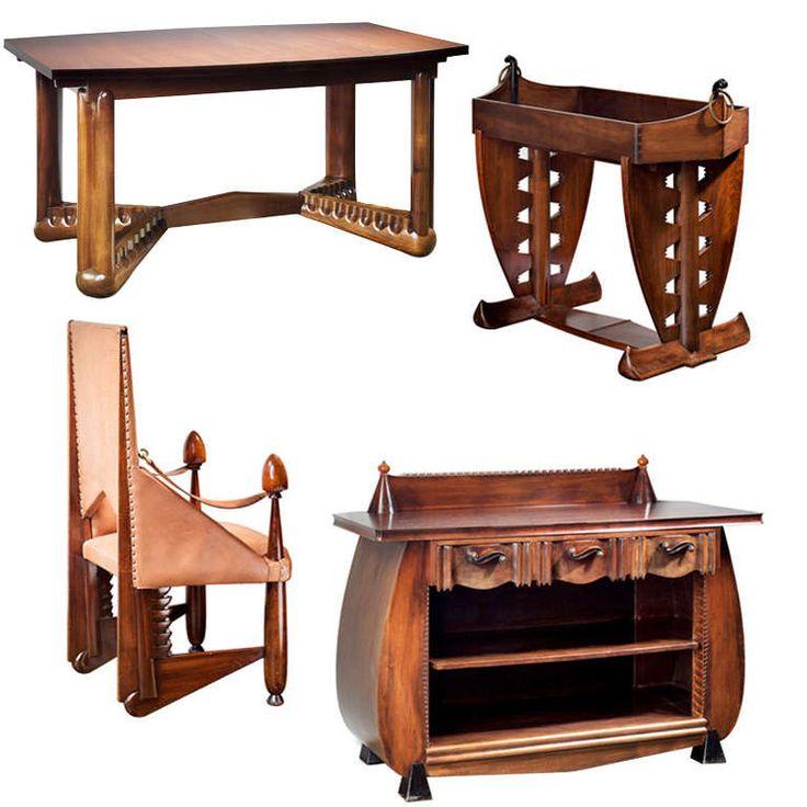 Extremely Rare Furniture Set by Michel de Klerk, Amsterdam School at 1stdibs