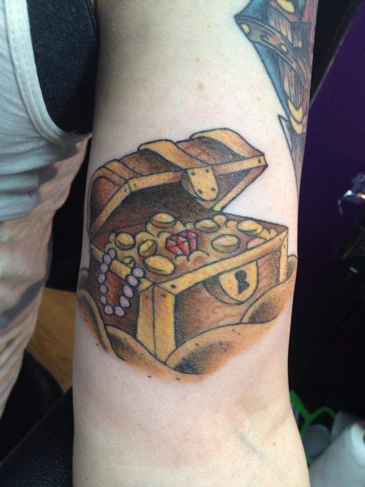Treasure Chest... second addition to the start of a pirate sleeve